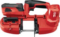 SB 4-A22 22V cordless band saw with LED light and a maximum cutting depth of 63.5 mm (2 1/2)
