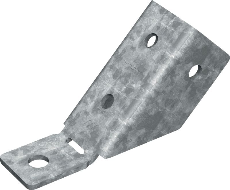 MT-AB-L 45 OC Angle brace (outdoor) 45-degree angle brace for anchoring bracing of MT-40 and MT-50 strut channel structures to concrete in moderately corrosive environments