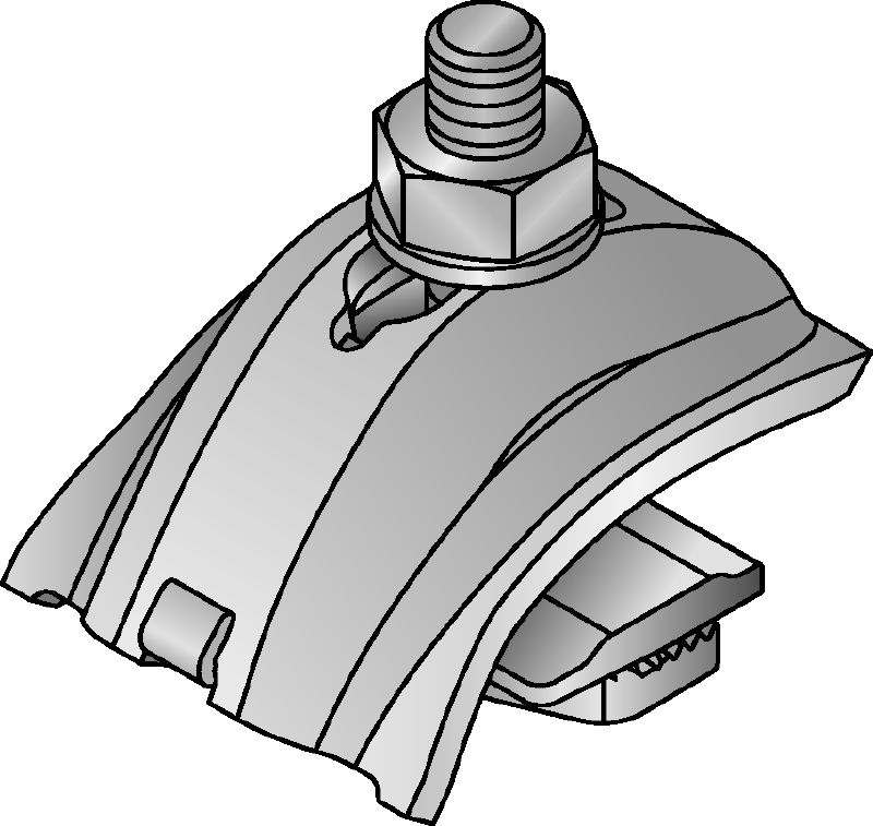 MQT-U Galvanized beam clamp for connecting the open side or back of MQ strut channels directly to steel beams