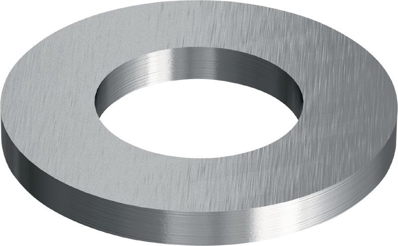 Stainless steel (A4) flat washer corresponding to ISO 7093 used in various applications